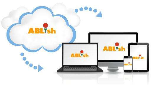 クラウドサービスで提供されるABLishのイメージ