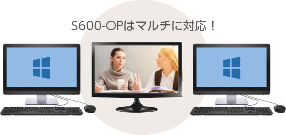 S600-OPはマルチに対応!