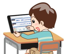 個別学習で発音練習