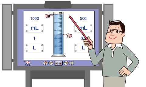 大きく映して数の概念を教えることができます。のイメージ